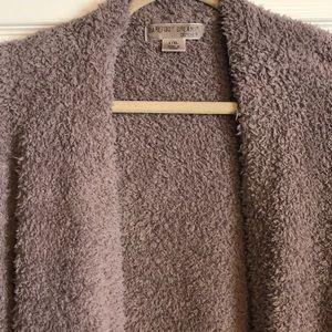 Barefoot Dreams Sweaters - Barefoot Dreams CozyChic Cardigan Beach Rock L/XL